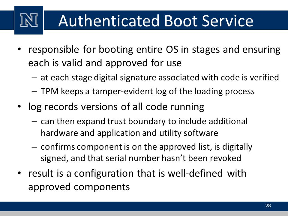 Authenticated Boot Service
