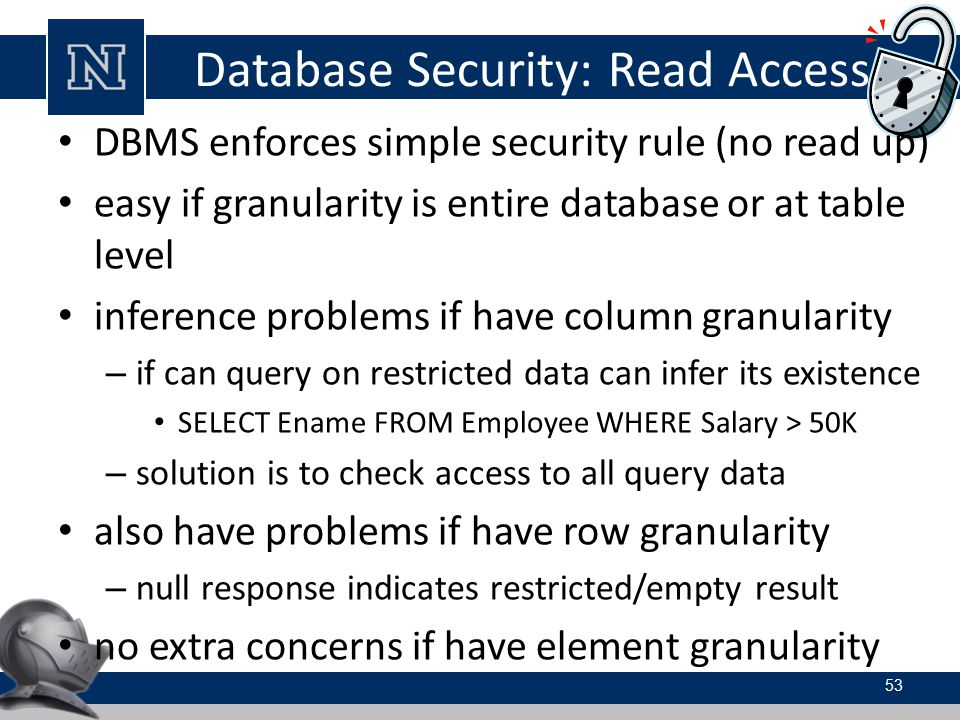 Database Security: Read Access