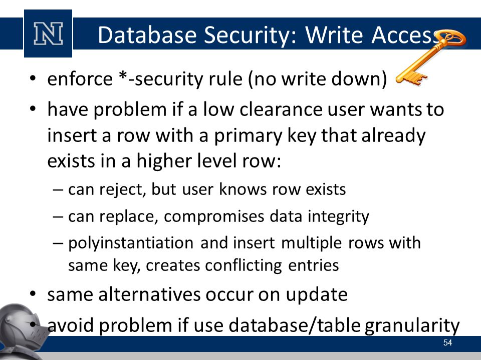 Database Security: Write Access