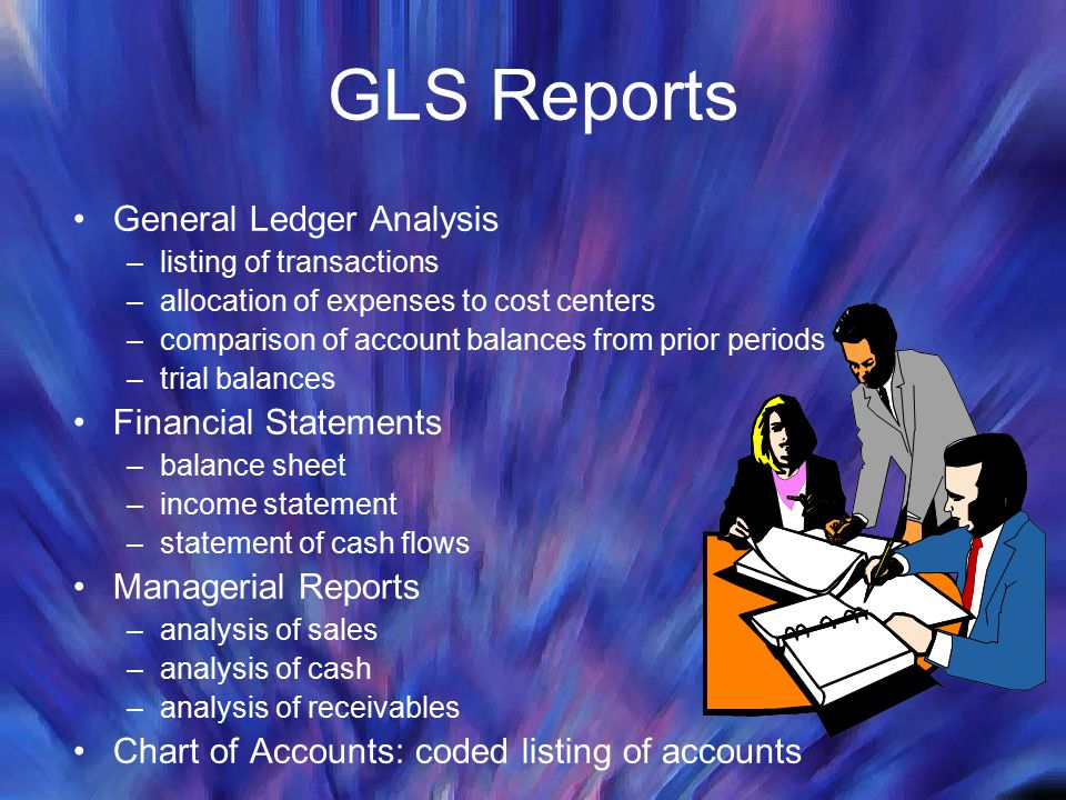 GLS Reports General Ledger Analysis Financial Statements