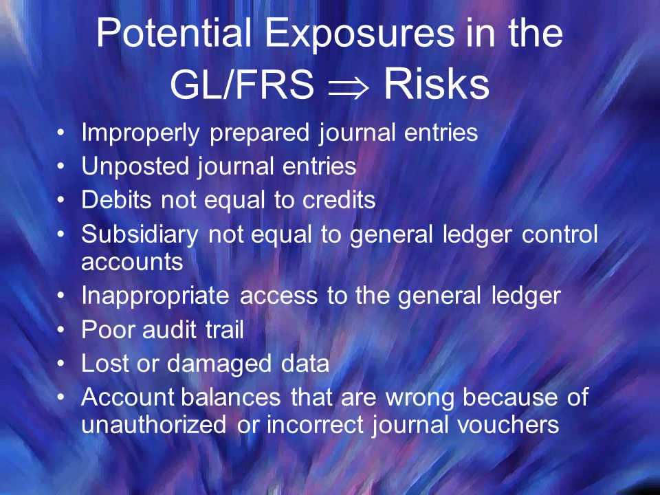 Potential Exposures in the GL/FRS  Risks