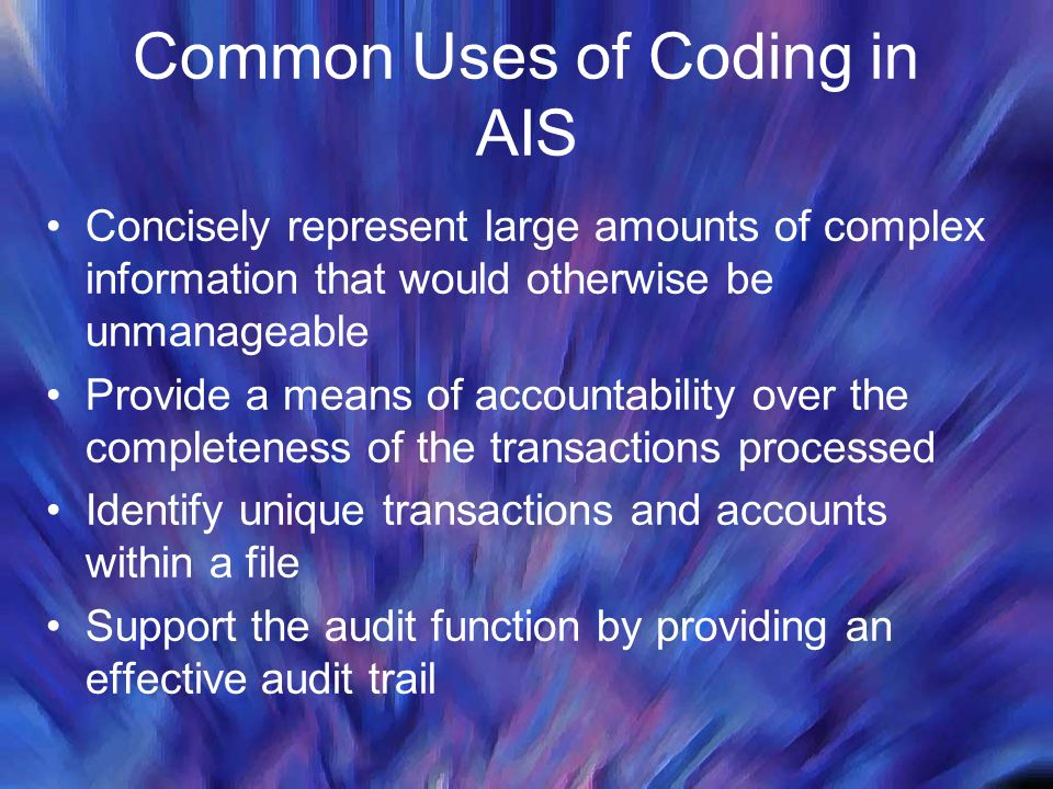 Common Uses of Coding in AIS