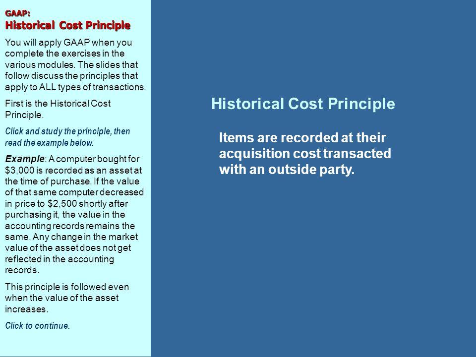Historical Cost Principle