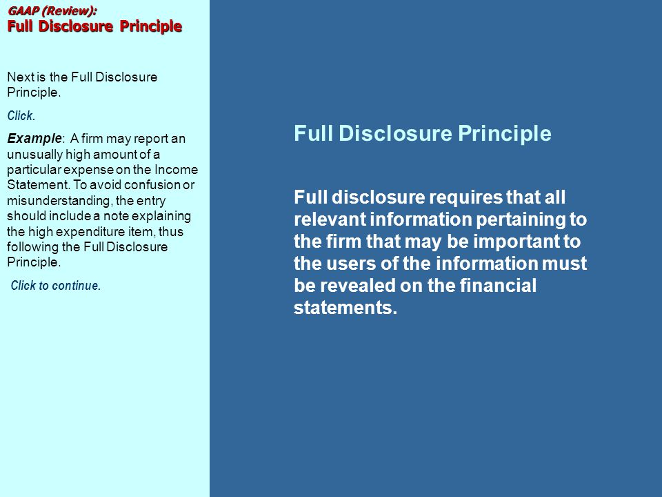 disclosure principle Principle of full disclosure (vs the alert procedure) while the following may not be of particular interest to you, it is fundamental to duplicate bridge and something you should know and.
