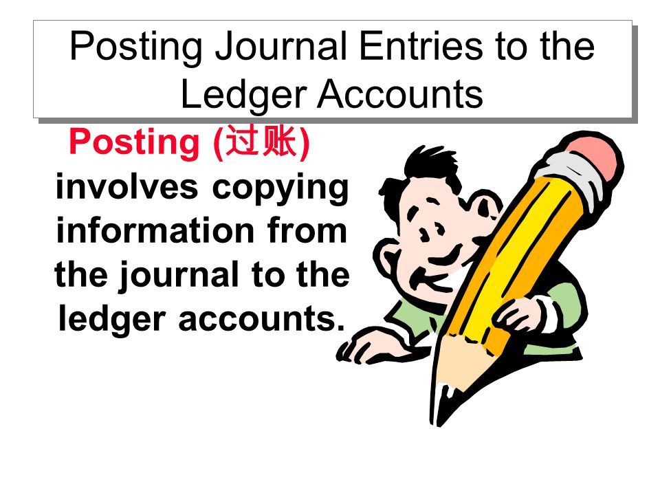 Posting Journal Entries to the Ledger Accounts