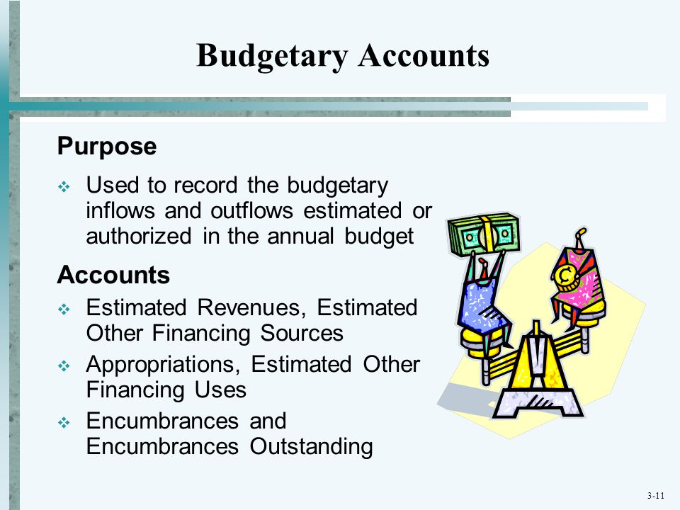 Budgetary Accounts Purpose Accounts
