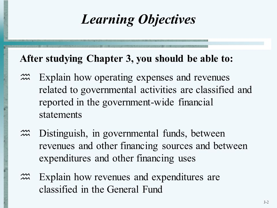 Learning Objectives After studying Chapter 3, you should be able to: