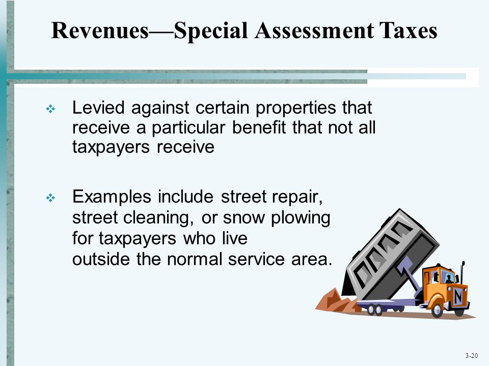 Revenues—Special Assessment Taxes