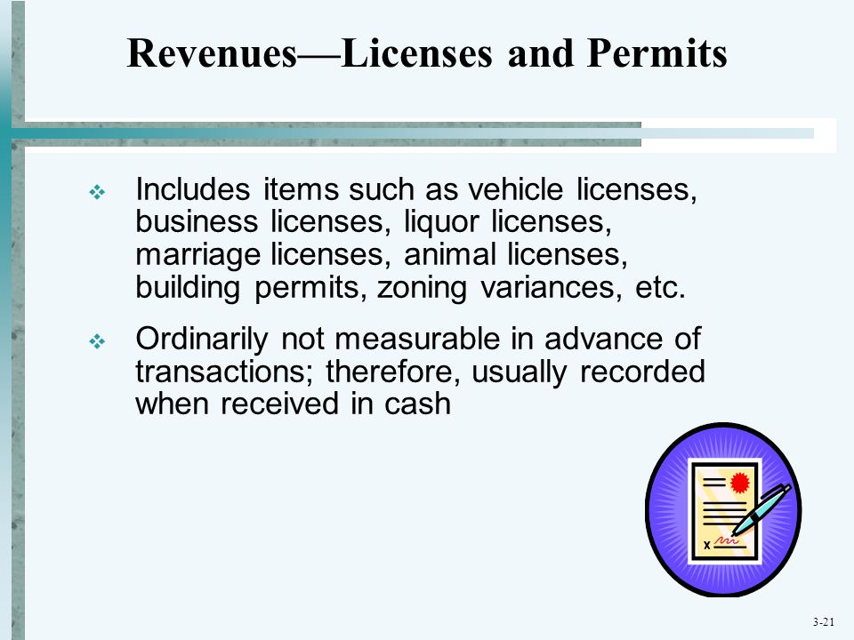 Revenues—Licenses and Permits