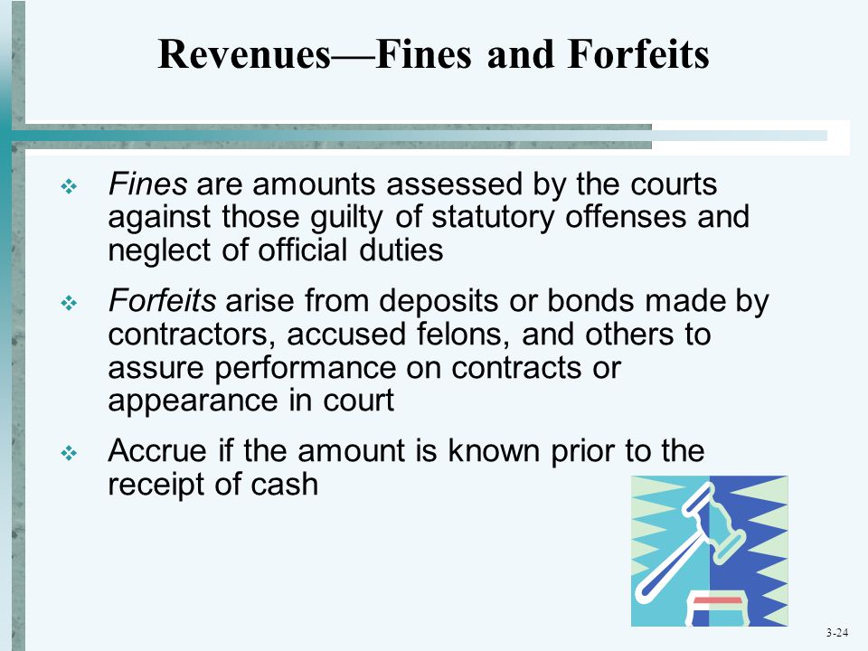 Revenues—Fines and Forfeits