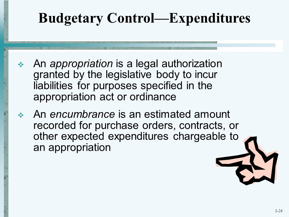 Budgetary Control—Expenditures