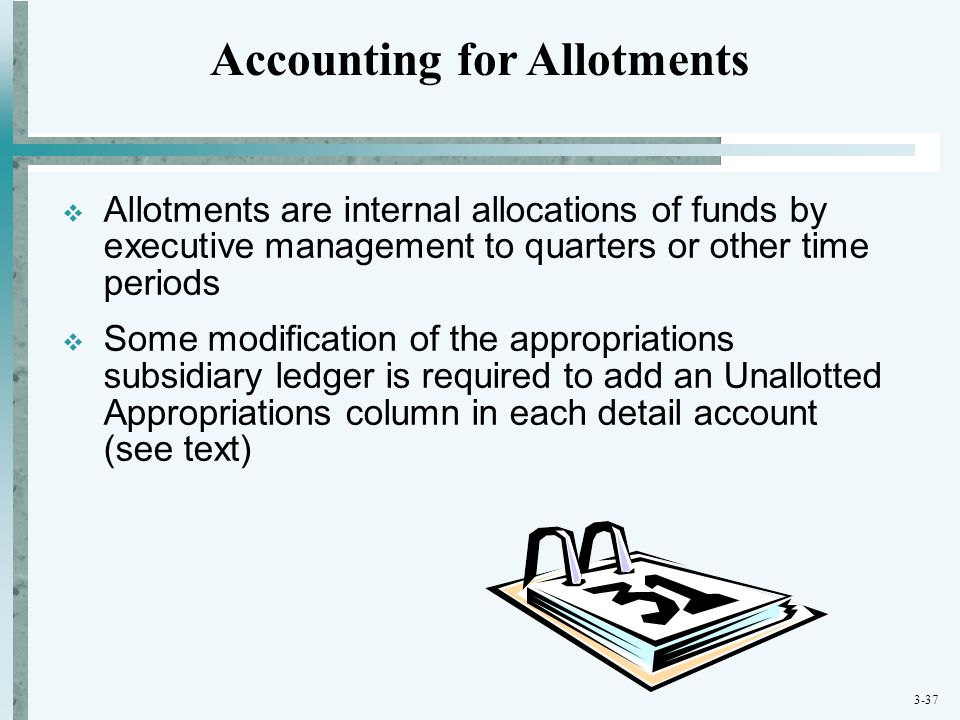 Accounting for Allotments