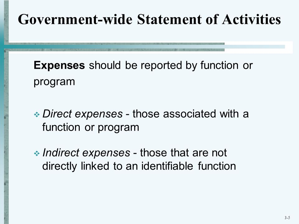 Government-wide Statement of Activities