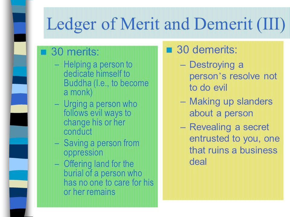 Ledger of Merit and Demerit (III)