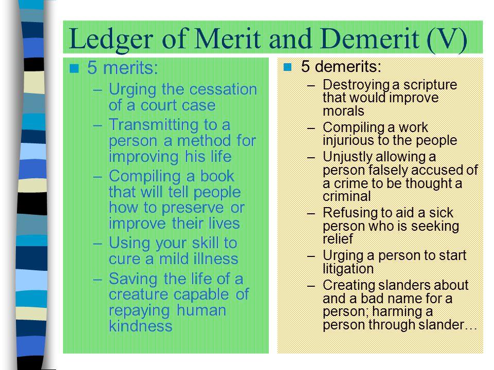 Ledger of Merit and Demerit (V)