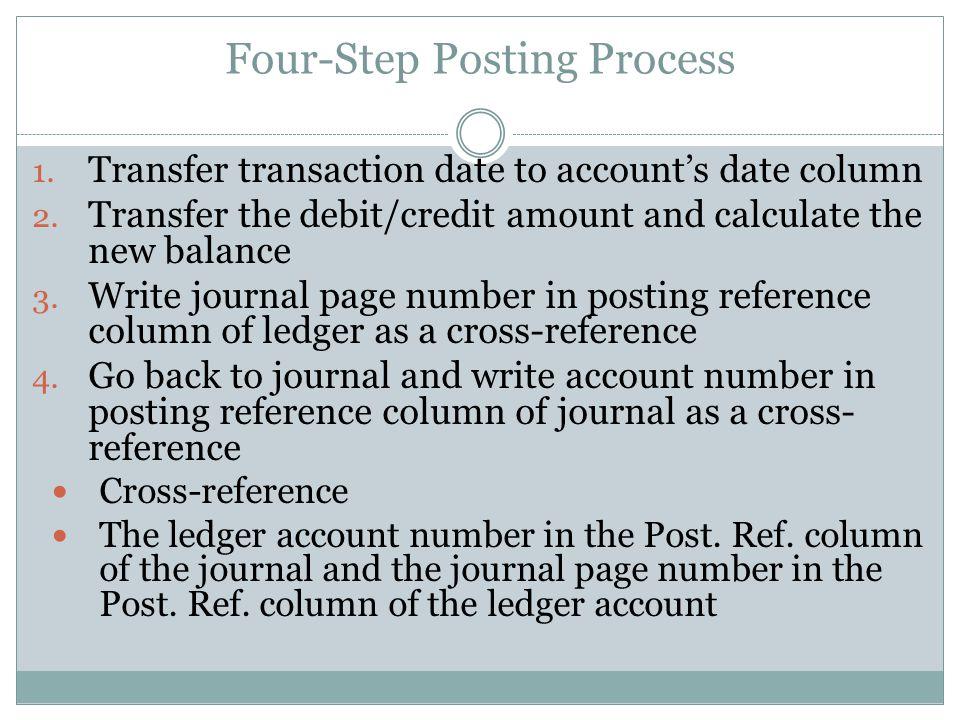Four-Step Posting Process