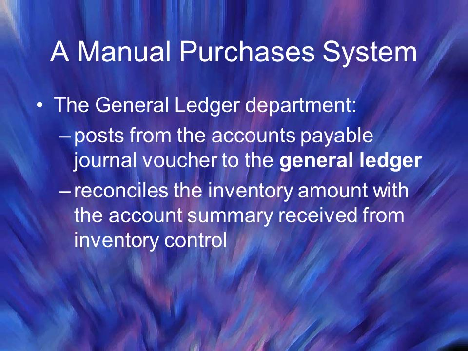 A Manual Purchases System