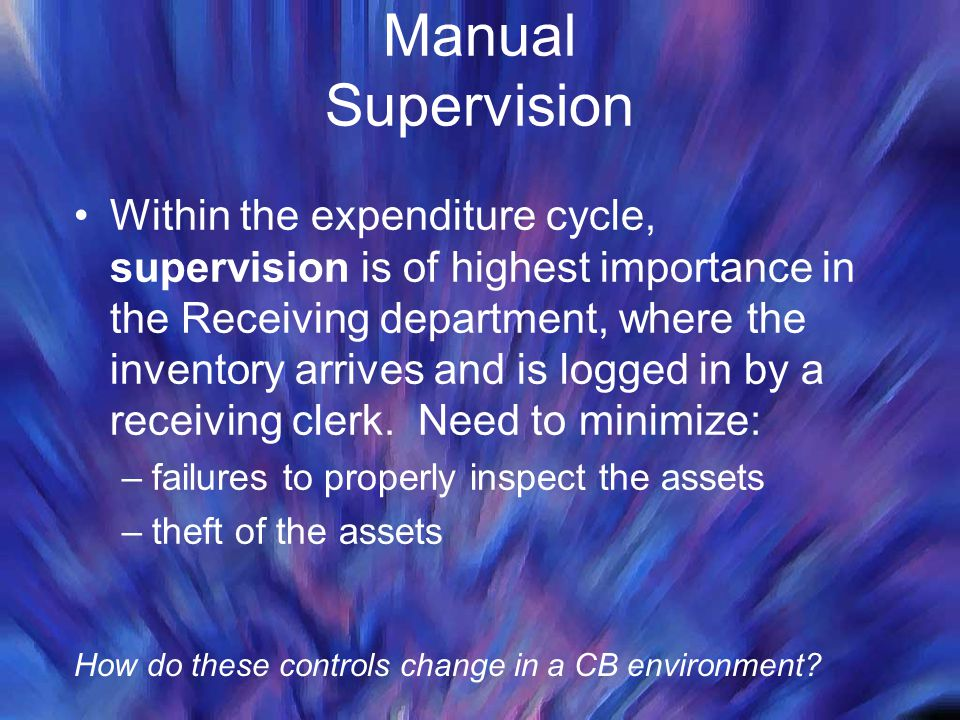 Manual Supervision