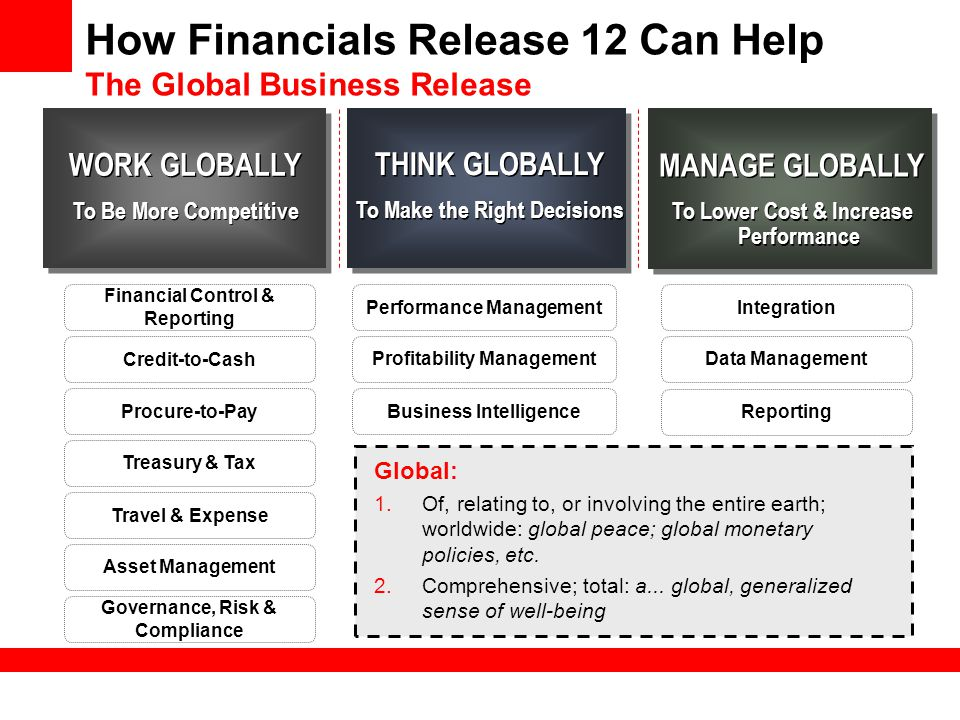 How Financials Release 12 Can Help The Global Business Release