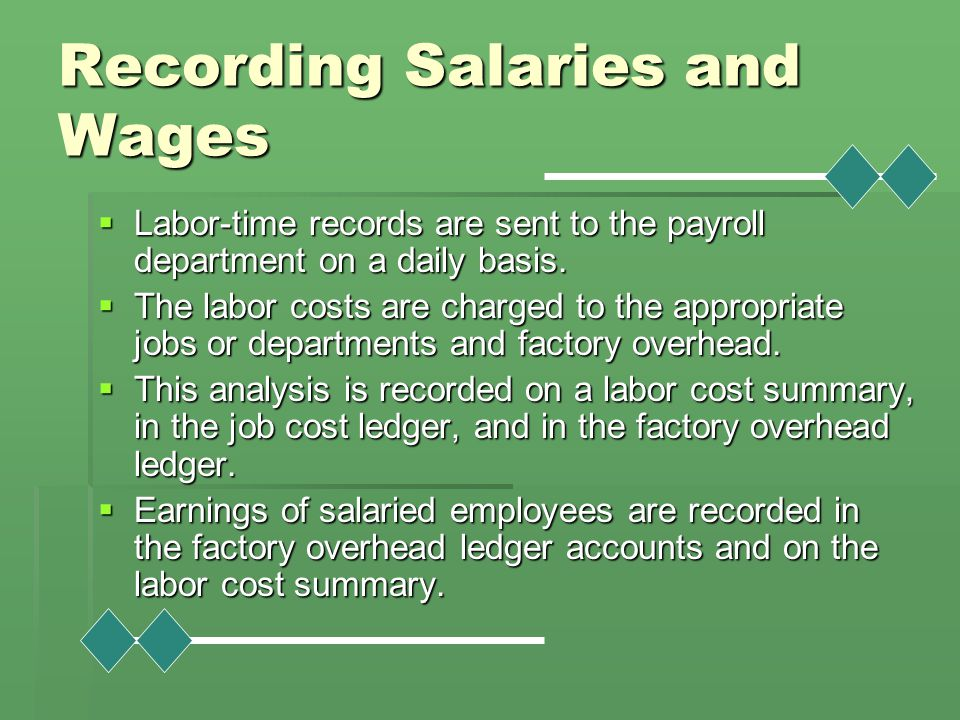 Recording Salaries and Wages