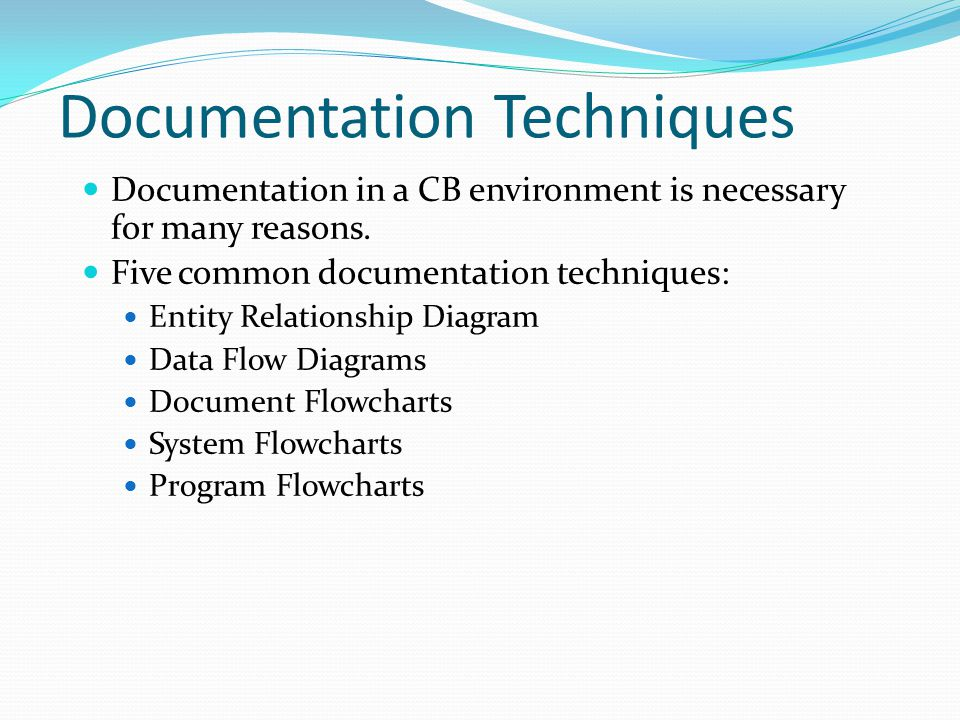 Documentation Techniques