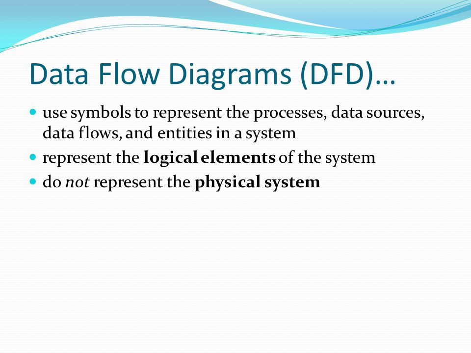 Data Flow Diagrams (DFD)…