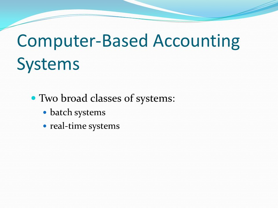 Computer-Based Accounting Systems