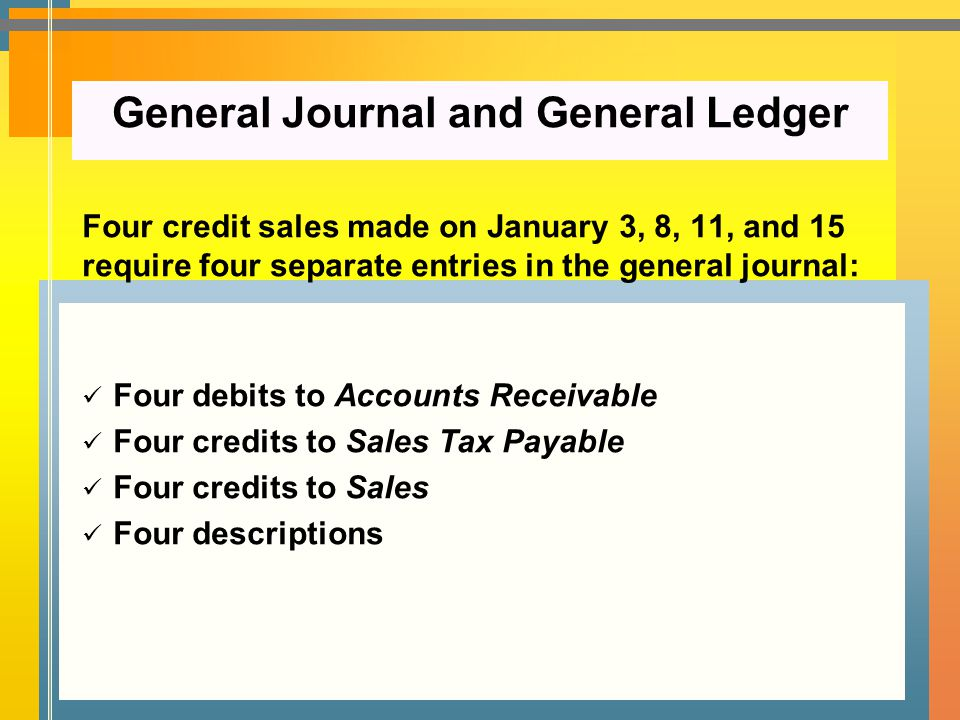 General Journal and General Ledger