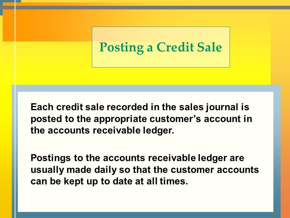 Posting a Credit Sale