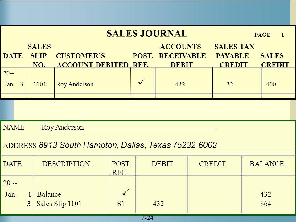 SALES JOURNAL PAGE 1 SALES ACCOUNTS SALES TAX