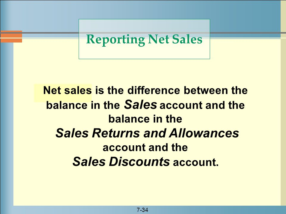 Sales Returns and Allowances account and the Sales Discounts account.