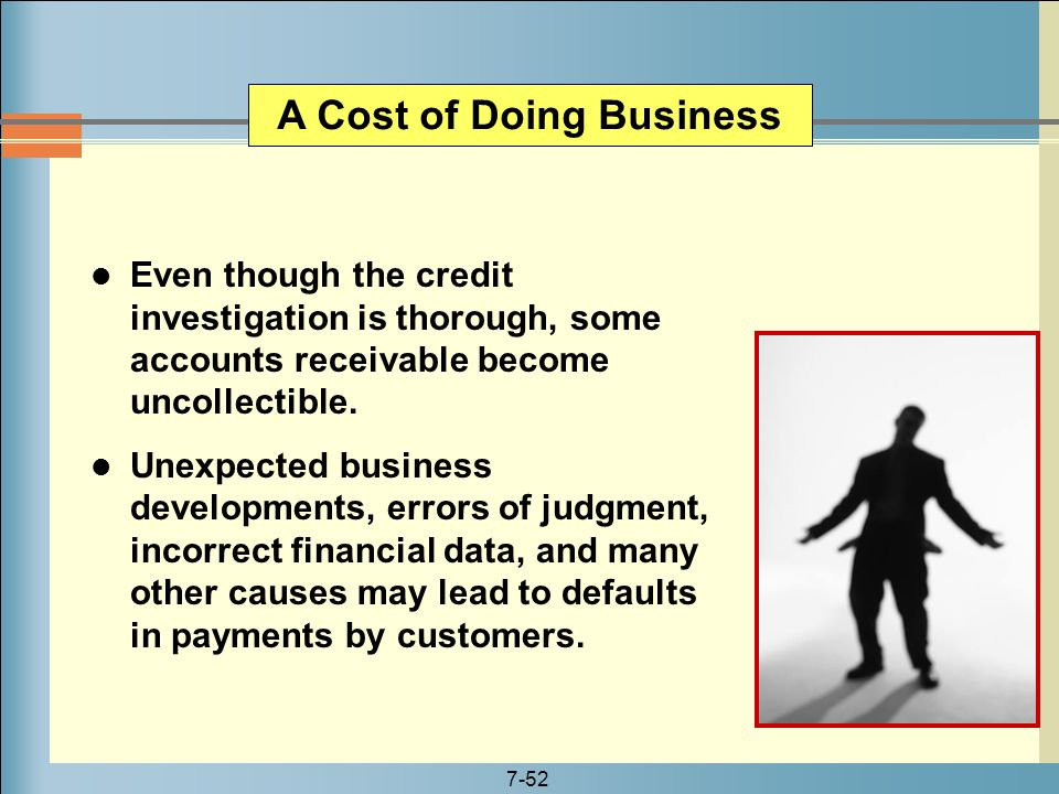 A Cost of Doing Business