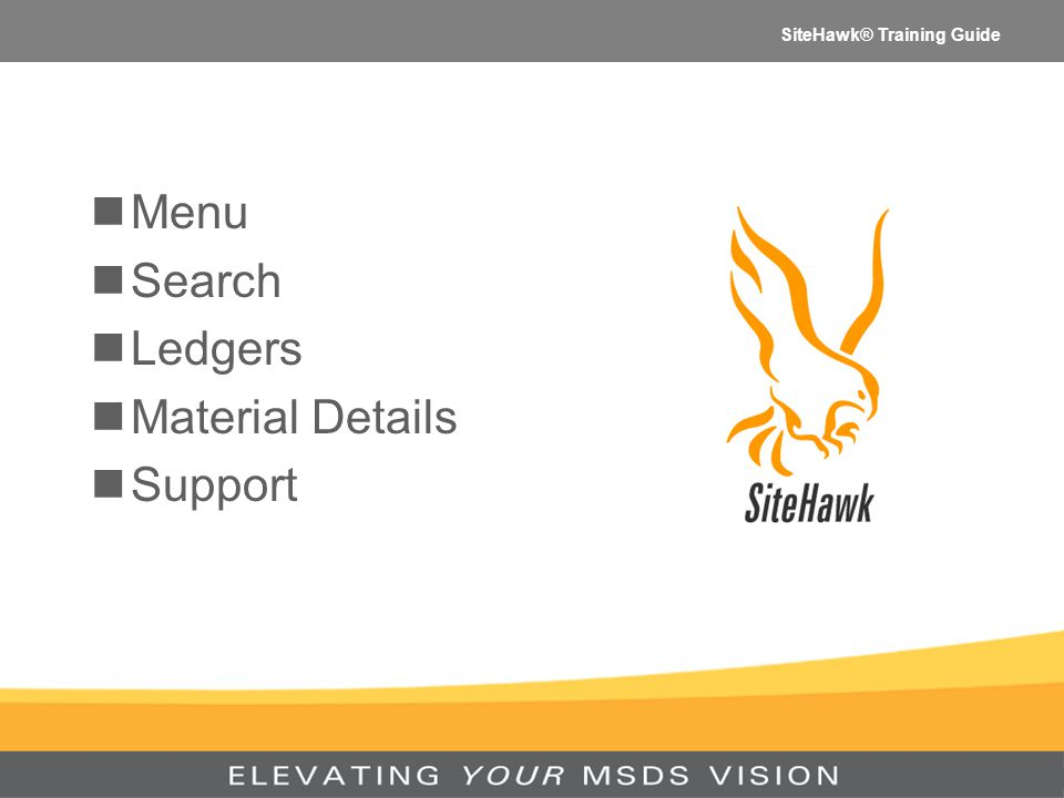 SiteHawk® Training Guide