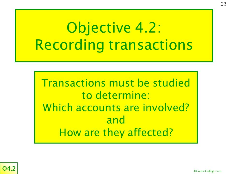 Objective 4.2: Recording transactions