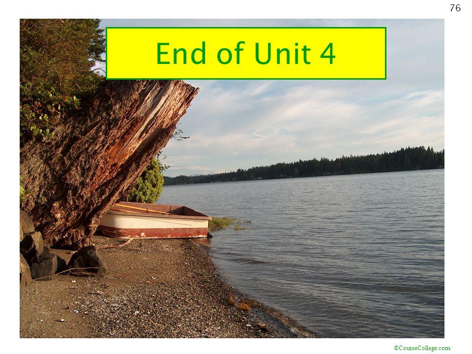 End of Unit 4