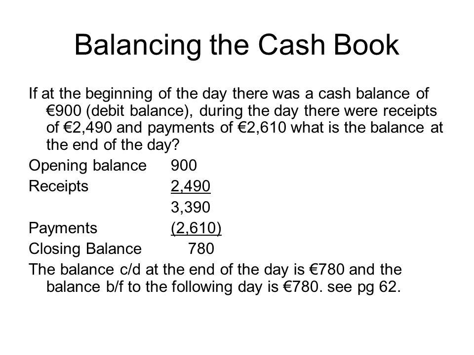 Balancing the Cash Book