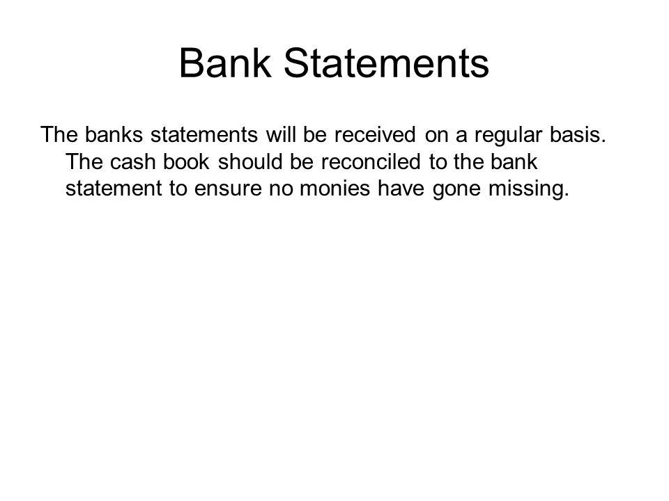 Bank Statements
