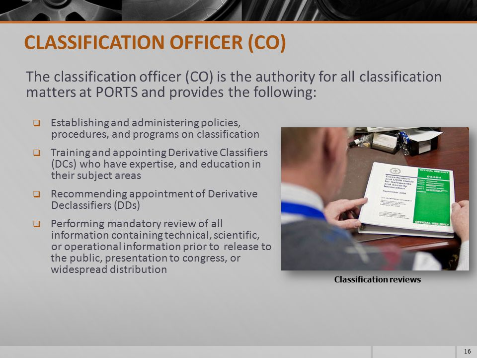 Classification reviews