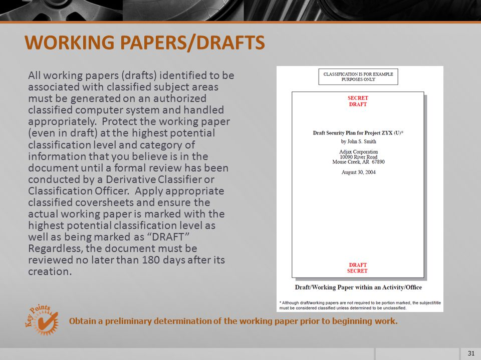 WORKING PAPERS/DRAFTS