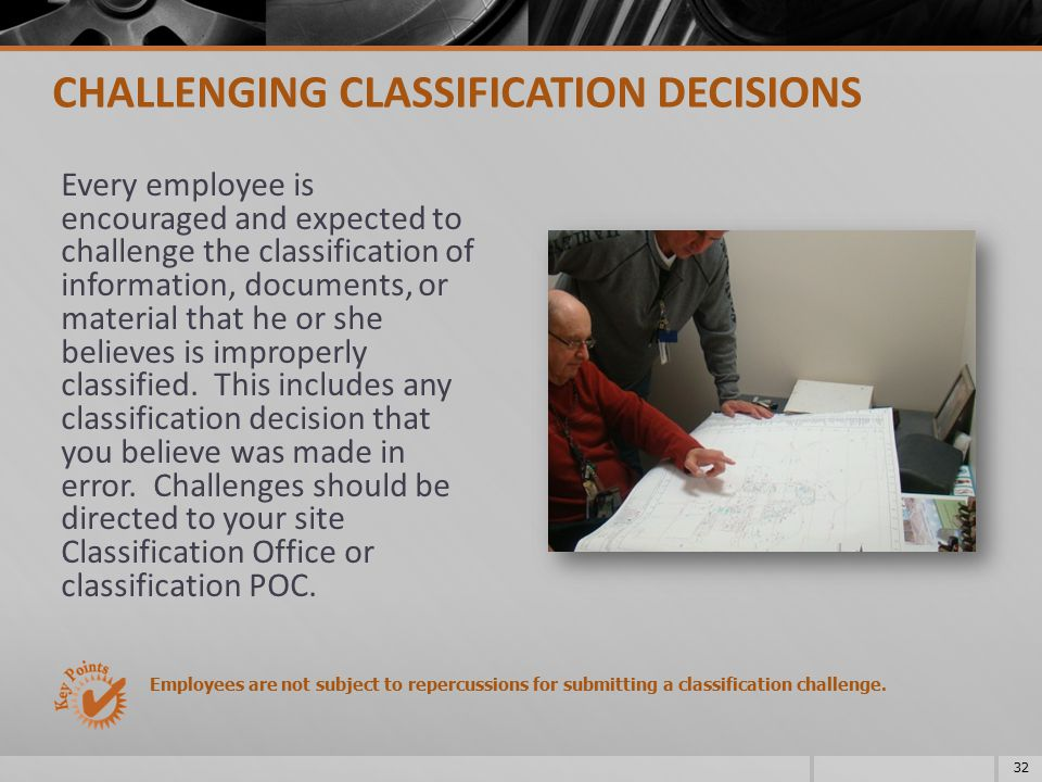 CHALLENGING CLASSIFICATION DECISIONS