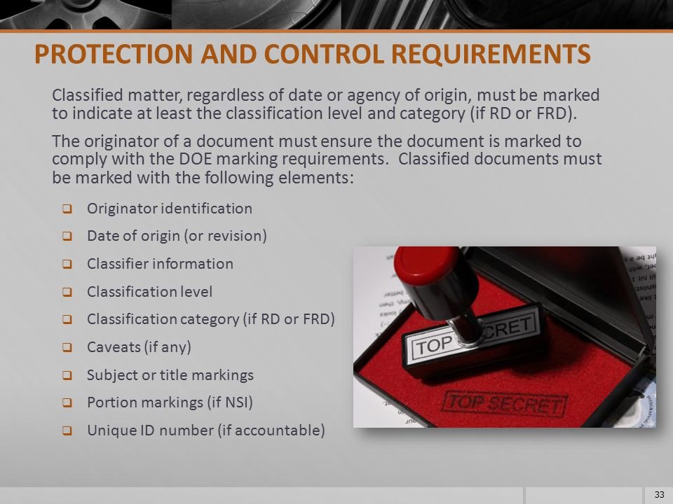 PROTECTION AND CONTROL REQUIREMENTS