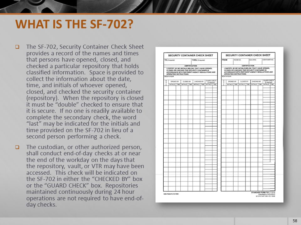 WHAT IS THE SF-702