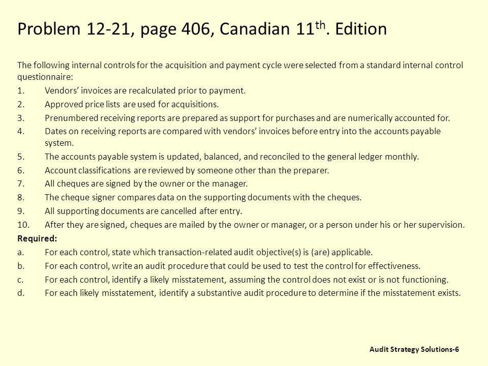 Problem 12-21, page 406, Canadian 11th. Edition