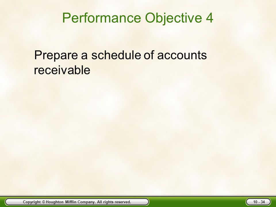 Performance Objective 4