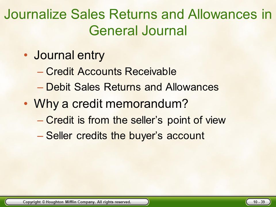 Journalize Sales Returns and Allowances in General Journal