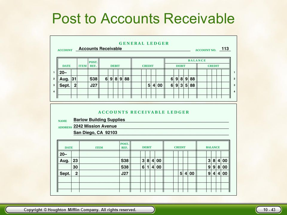 Post to Accounts Receivable