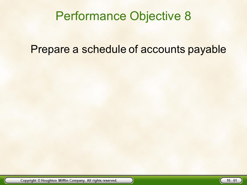 Performance Objective 8