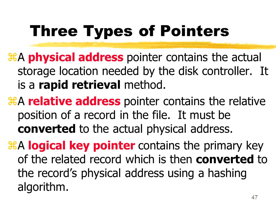 Three Types of Pointers