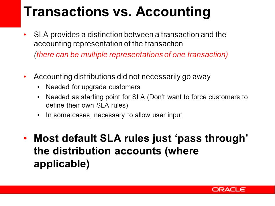Transactions vs. Accounting