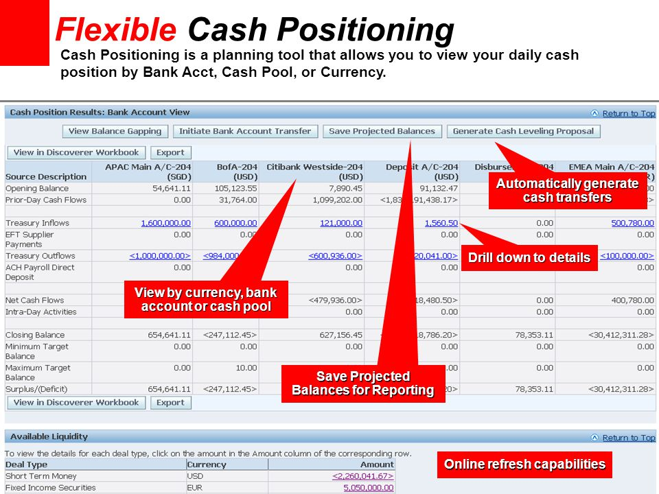 Flexible Cash Positioning